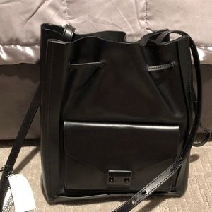 Beautiful leather crossbody/tote Never worn